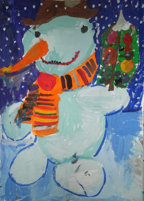 Картинки с новым годом нарисованные красками, новогодние
