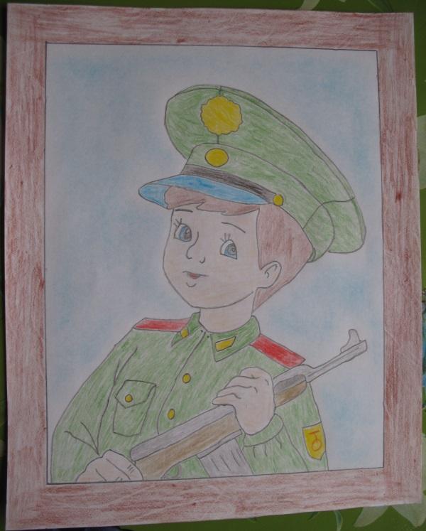 Картинки по теме 23 февраля рисовать человека