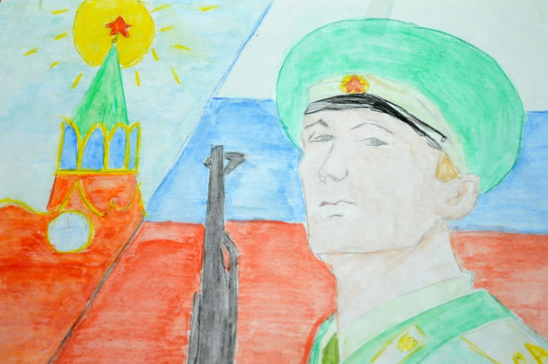 Рисунок к дню защитника отечества в школу, прикольные