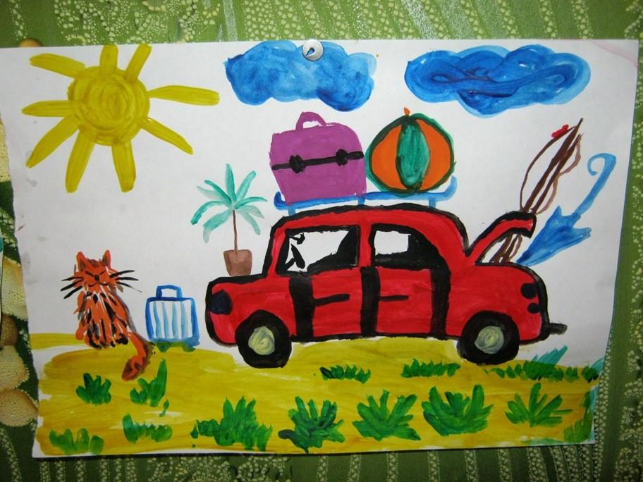 Рисунок на тему Лето - Родная тропинка