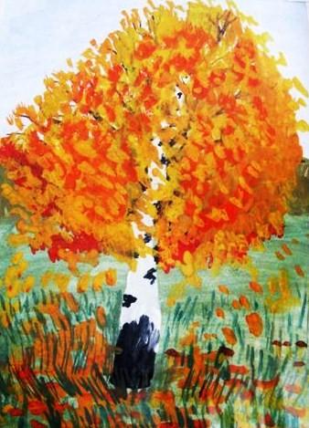 Осень рисунки карандашом в сад